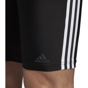 adidas Fit 3-Stripes Jammer-uimahousut Miehet, black/white